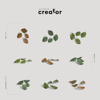 봄 장면 제작자의 잎보기