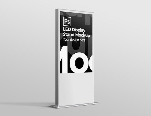 브랜딩 및 광고 프리젠 테이션을위한 led 디스플레이 스탠드 모형