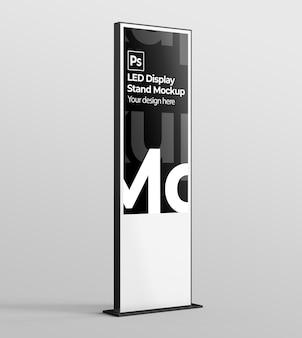 Макет светодиодной витрины для брендинга и рекламных презентаций