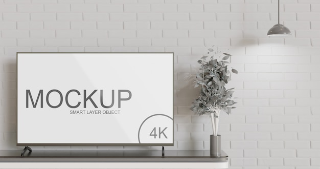 Led screen tv mockup mockup minimalist