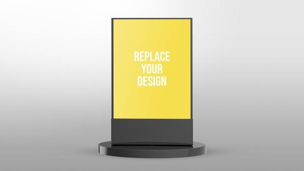 Светодиодные вывески 3d-рендеринга дизайн макета