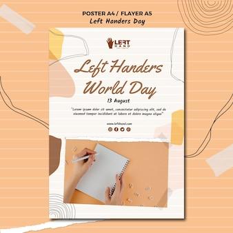 Left handers day poster design