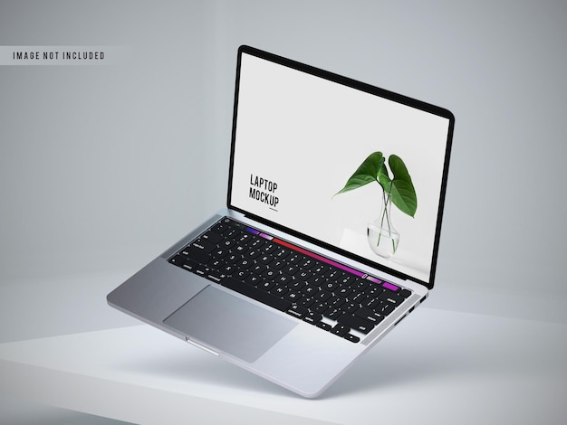 Left view of laptop mockup design Free Psd