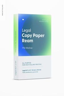 Mockup di risma di carta per copia legale