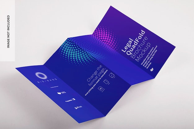 Мокап брошюры legal quadfold