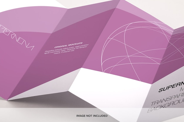 Юридическая брошюра, сложенная в четыре раза больше, макет psd