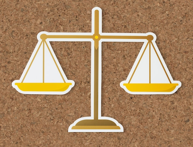 Legal scale of justice icon