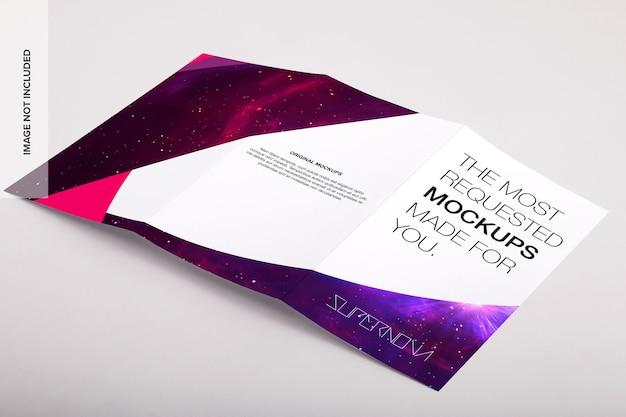 Legal trifold brochure psd mockup