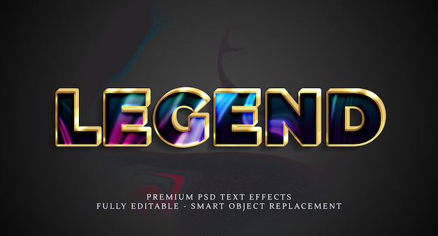 Legend text style effect psd