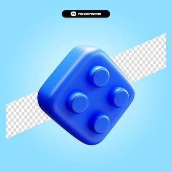 고립 된 레고 3d 렌더링 그림