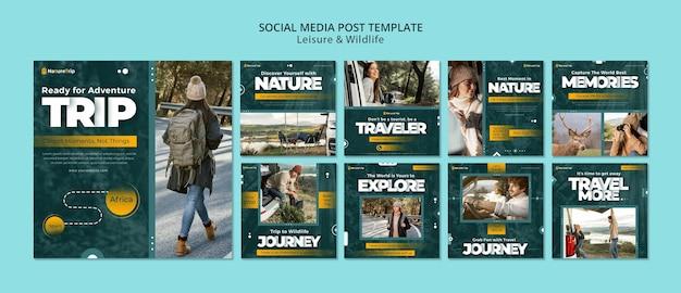 Сообщение в социальных сетях, посвященное отдыху и дикой природе