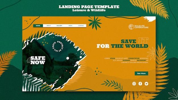 레저 및 야생 동물 웹 템플릿 무료 PSD 파일