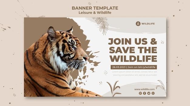 Modello di banner per il tempo libero e la fauna selvatica