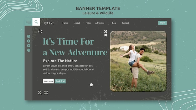Leisure and wildlife landing page template