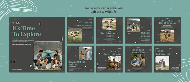 Leisure and wildlife social media posts
