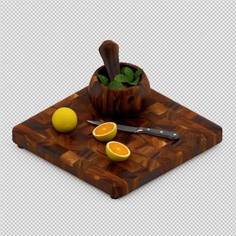 Lemon 3d render