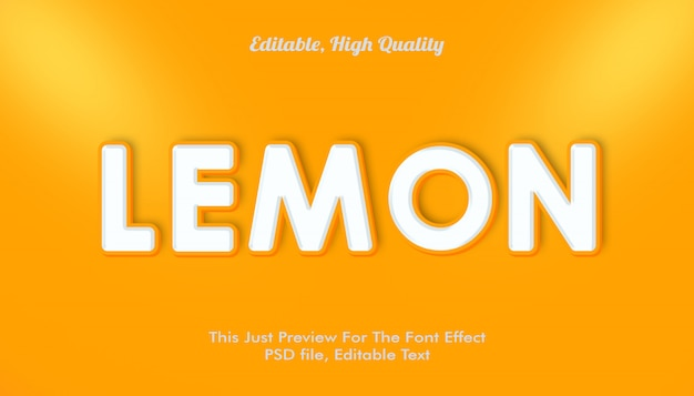 Лимонный эффект шрифта