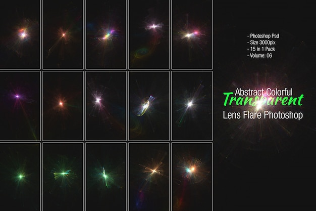 Вспышка света объектива
