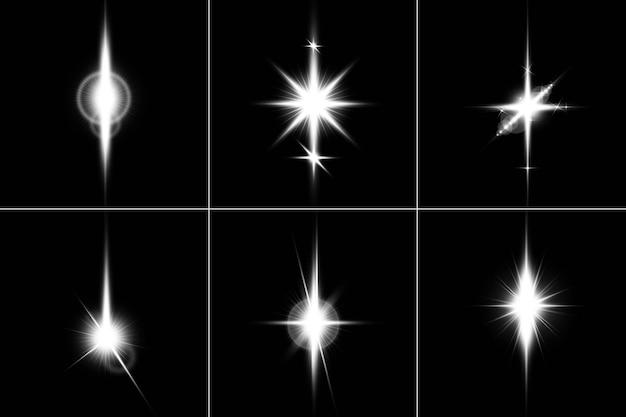 Визуализация дизайна пакета lens flares pack