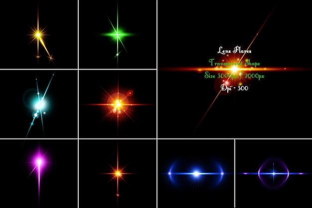 Пакет lens flares в 3d-рендеринге