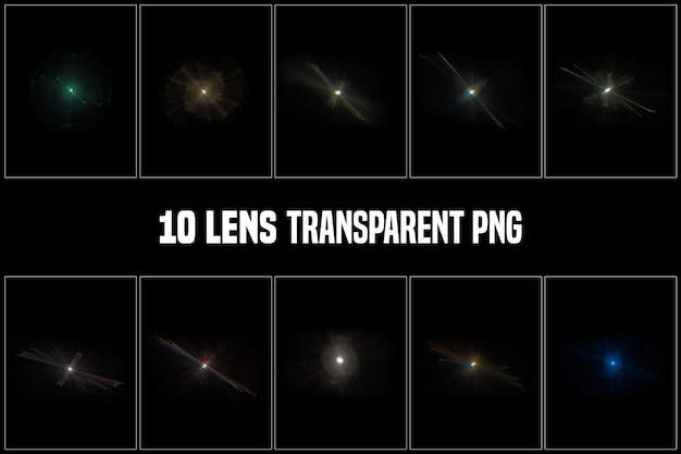 Lens transparent collection