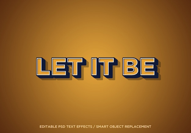 Let it be editable text effect