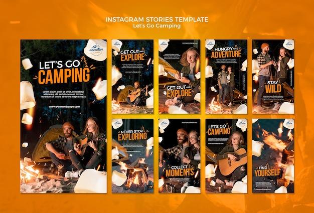 Let's go camping social media stories