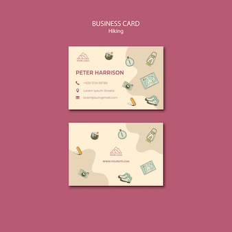Let's go hiking business card template