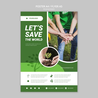 Let's save the world poster template
