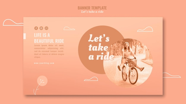 Let's take a ride banner template