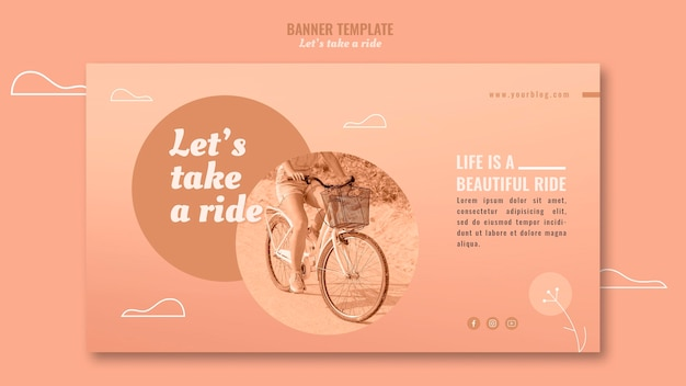 Let's take a ride horizontal banner template