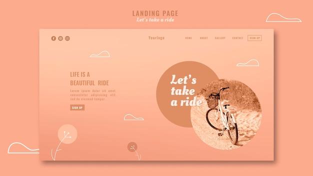 Let's take a ride landing page