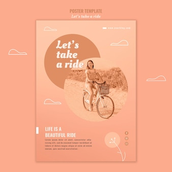 Let's take a ride poster template with photo
