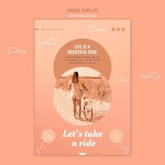 Let's take a ride poster template