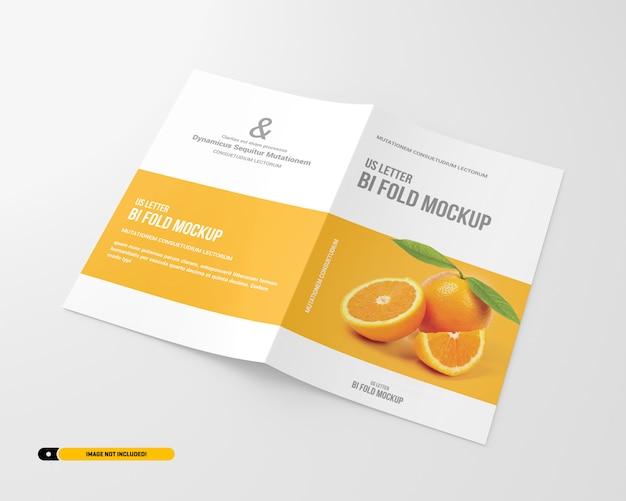Letter bifold brochure mockup
