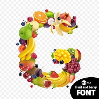 Letter g, fruit font symbol