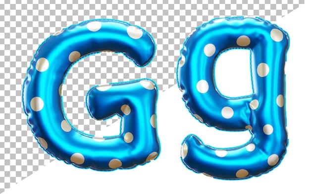 Буква g в горошек алфавит из гелиевой фольги с верхним и нижним регистром