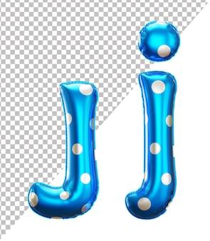 Буква j алфавит в 3d-рендеринге с верхним и нижним регистром