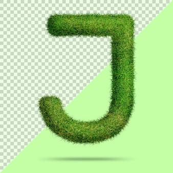 Буква j с реалистичной 3d травой