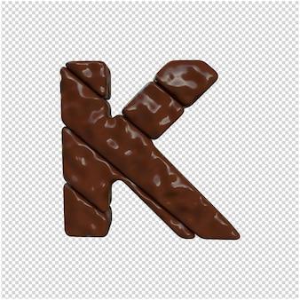 Письмо из шоколада 3d-рендеринга