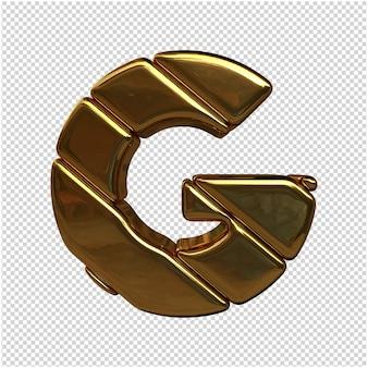 절연 골드 3d 렌더링 만든 편지