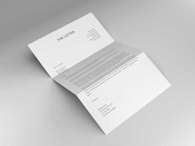 Letter mockup