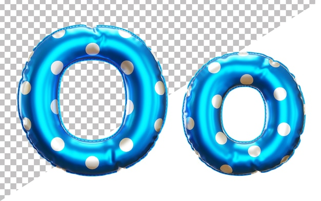 Letter o polka dots helium foil balloon alphabet with upper case and lower case