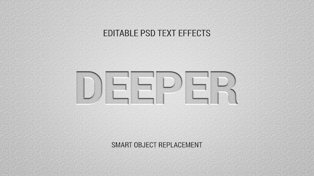 Letter press editable text effects