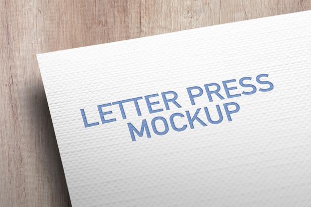 Letter press mockup