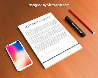 Letterhead and smartphone mockup