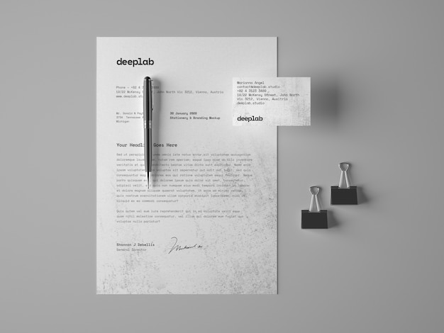 Letterhead and business cards