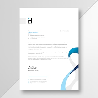 Letterhead business flyer