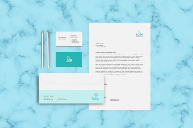 편지지, 봉투 및 명함 이랑 템플릿