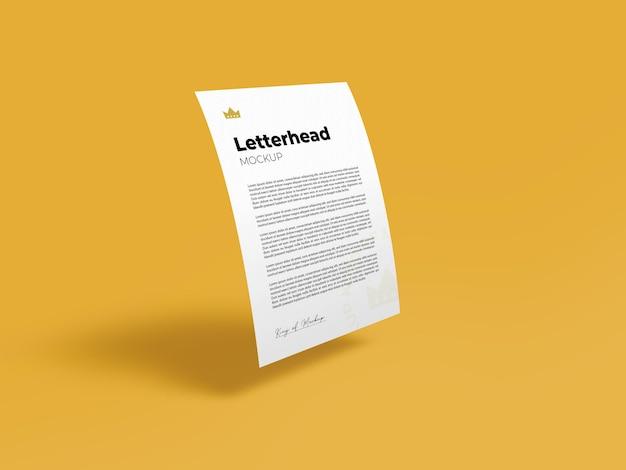 レターヘッドモックアップa4チラシデザインレンダリング